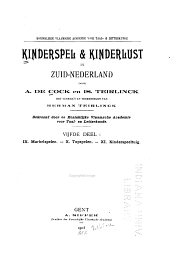 Kinderspel & kinderlust in Zuid-Nederland: deel. Marbelspelen. Topspelen. Kinderspeeltuig