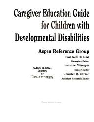 Caregiver Education Guide for Children with Developmental Disabilities PDF