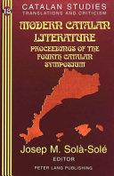 Modern Catalan Literature PDF