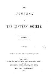 Botanical Journal of the Linnean Society: Volume 15