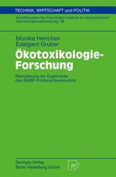 Ökotoxikologie-Forschung: Bilanzierung der Ergebnisse des BMBF-Förderschwerpunkts