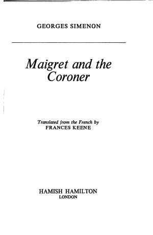 Maigret and the Coroner