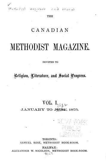 Canadian Methodist Magazine PDF