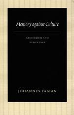 Memory Against Culture