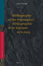 Bibliography of the Septuagint / Bibliographie de la Septante (1970-1993)