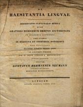 De haesitantia linguae: dissertatio inauguralis medica