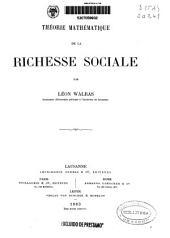 Théorie mathématique de la richesse sociale