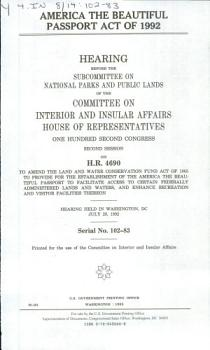 America the Beautiful Passport Act of 1992 PDF