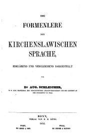 Die Formenlehre der kirchenslawischen Sprache