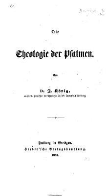 Die Theologie der Psalmen PDF