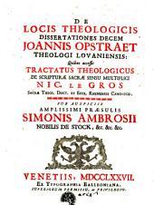 De locis theologicis dissertationes decem