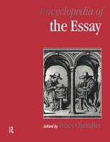 Encyclopedia of the Essay PDF