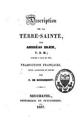 Description de la Terre-Sainte