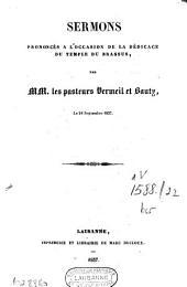 Sermons prononcés à l'occasion de la dédicace du temple du Brassus: le 24 septembre 1837