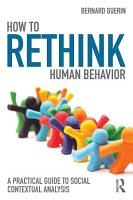 How to Rethink Human Behavior PDF