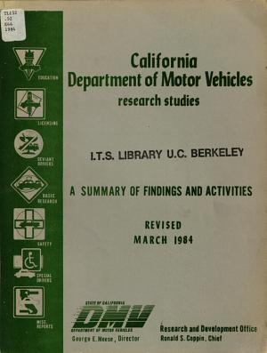 California Department of Motor Vehicles Research Studies PDF