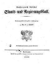 Großherzoglich Badisches Staats- und Regierungsblatt: 1839