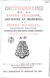 Dictionnaire de la langue française, ancienne et moderne, de Pierre Richelet