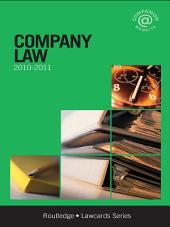 Company Lawcards 2010-2011: Edition 7