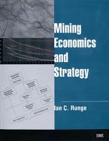 Mining Economics and Strategy PDF