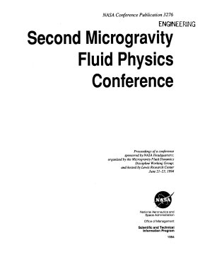 Second Microgravity Fluid Physics Conference