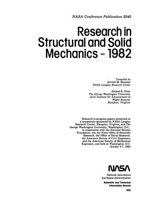 Research in Structural and Solid Mechanics--1982