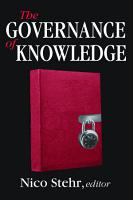 The Governance of Knowledge PDF