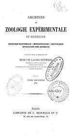 Archives de zoologie expérimentale et générale: Volume2