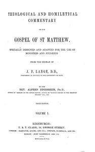Theological and Homiletical Commentary on the Gospel of St  Matthew PDF