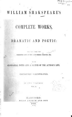 William Shakspeare s Complete Works  Dramatic and Poetic PDF