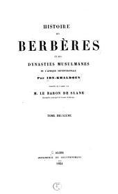 Histoire des Berbères et des dynasties musulmanes de l'Afrique Septentrionale: Volume2