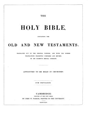 The Holy Bible  Containing the Old and New Testament