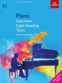 Piano Specimen Sight Reading Tests  Initial Grade