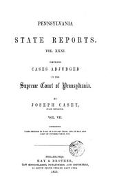 Pennsylvania State Reports: Volume 31
