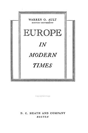 Europe in Modern Times