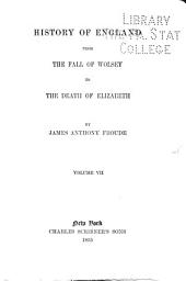 History of England from the Fall of Wolsey to the Death of Elizabeth: Volume 7