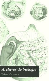Archives de biologie: Volume 17