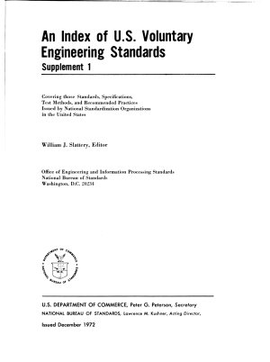 An Index of U S  Voluntary Engineering Standards  Supplement 1 PDF