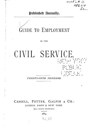 Guide to Employment in the Civil Service PDF