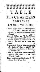 Histoire de tous les ordres de chevalerie, tant religieux que militaires: Volume1