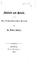 Ab  lard und Heloise  Ein kirchenhistorischer Versuch PDF