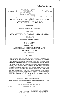 Health Professions Educational Assistance Act of 1974 PDF