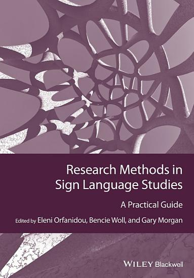 Research Methods in Sign Language Studies PDF
