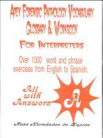Apex Forensic Pathology Vocabulary Glossary and Workbook for Interpreters PDF
