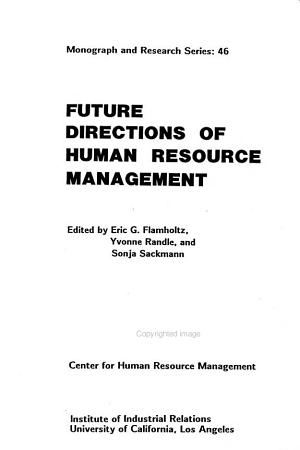 Future Directions of Human Resource Management PDF