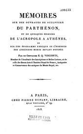 Mémoires sur les ouvrages de sculpture du Parthénon et quelques édifices de l'acropole d'Athènes
