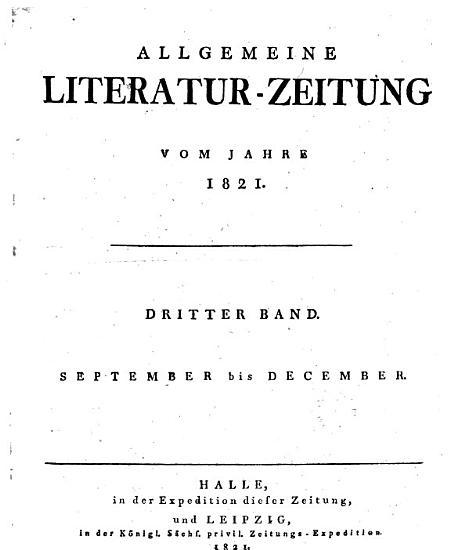 Allgemeine Literatur Zeitung PDF