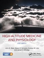 High Altitude Medicine and Physiology 5E PDF