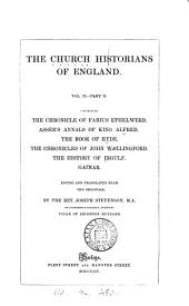 The Church historians of England, tr. by J. Stevenson