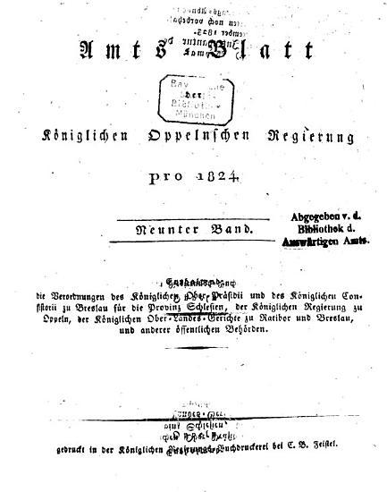 Amtsblatt des Regierungspr  sidenten in Oppeln PDF